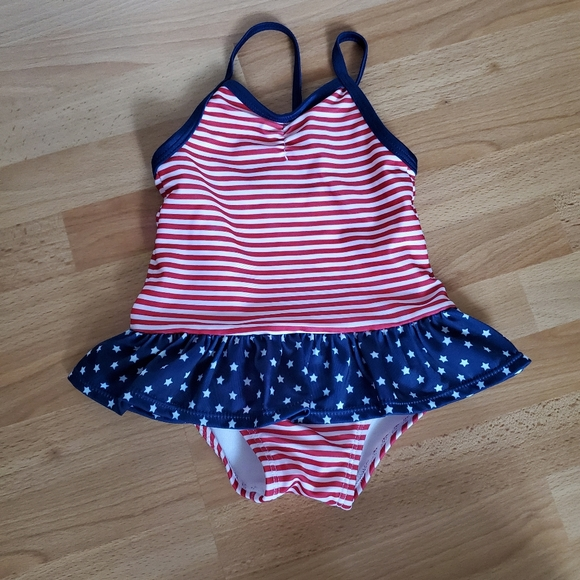 Gymboree Baby Girl/'s One Piece Swim Suit Pink Blue Coral NWT!
